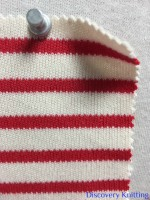 846 S-C-ERed Stripe Heavy Interlock Ecru/Red