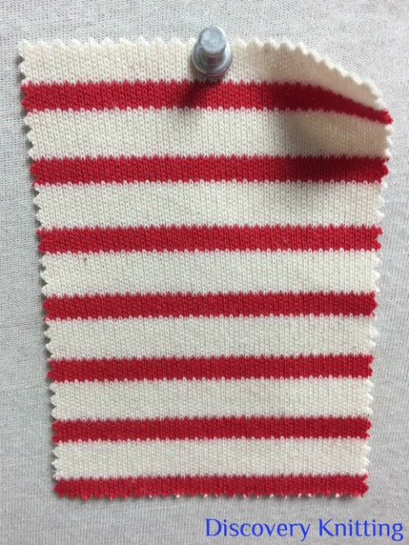 846 S-C-ERed Stripe Heavy Interlock Ecru /Red
