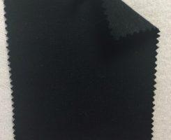 813 -OGE -Blk  Organic Cotton 2% Lycra 1x1 Rib  BLACK