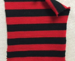 882 S-C-RBlk Stripe Combed Cotton Jersey Red/Black