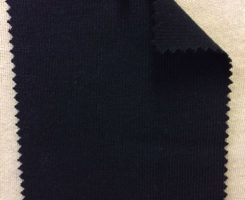 861 -OG -Navy # 43500 A  Organic Cotton 1x1 Rib