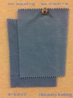 SKY BLUE # 27 Front: Organic Jersey 626 T-OG  Back: Organic 1x1 Rib 831 T-OG