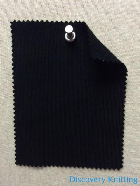 783 T -OG -Blk Organic Combed Cotton 1x1 Rib  BLACK