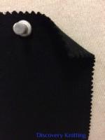 839-OGE-Blk  Organic Cotton Lycra 1x1 Rib  BLACK