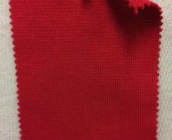 839-OGE-Red  Organic Cotton Lycra 1x1 Rib RED # VER 19
