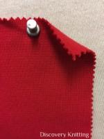 839-OGE-Red  Organic Cotton Lycra 1x1 Rib RED # VER 19