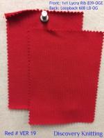 RED # VER 19 Front: 1x1 Lycra Rib 839-OGE  Back: Loopback 608 LB-OG