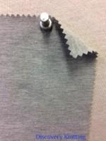 788 G-OGPE-11  Grey Melange # 11  Jersey 12% Lycra 80 Organic Cotton 8 Poly