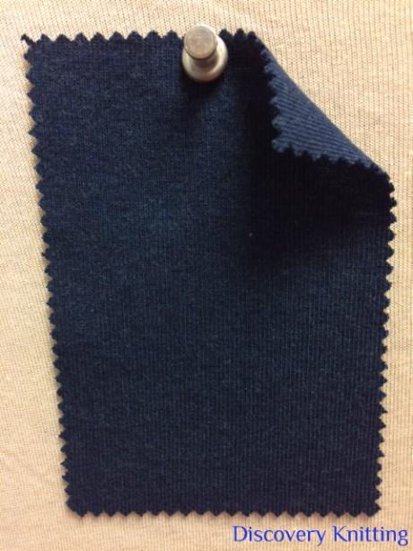 831 T-OG-BMH7 BLUE JEANS MELANGE # H7 Organic Cotton 1x1 Rib