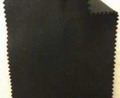 9122 M4 -PVE-Blk  Viscose Poly Lycra 1x1 Rib BLACK