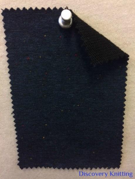 519 LB-VPE-NavyB Navy Tweed Loopback w Elastane /Black Loop