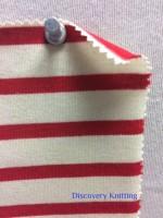 723 S-OGC Organic Breton Stripe Jersey ECRU / RED