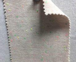 925-CVPE Vintage Beige Neon Confetti Heavy 1x1 Lycra Rib