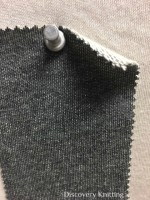 910 LB-OG  Organic Cotton Loopback BLACK DENIM / Ecru Loop