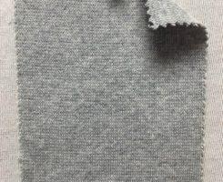 829 GT-OGPE-10 Organic Cotton Poly Lycra 1x1 Rib GREY MELANGE # 10