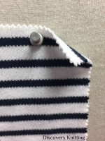 846 S-C Combed Cotton Heavy Stripe Interlock OPTICAL WHITE / NAVY
