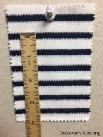 846 S-C Stripe Interlock Optical White /Navy w INCH RULER