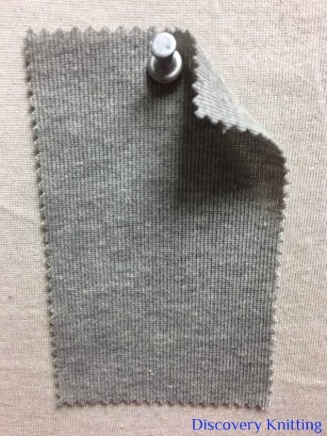831 GT-OGP-10 Organic Cotton 1x1 Rib GREY MELANGE # 10