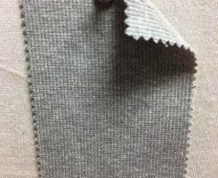 001 G-OGPE-10 Organic Cotton Lycra 2x1 Rib GREY MELANGE # 10