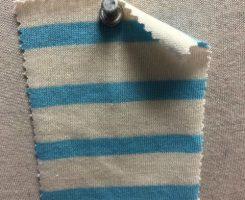 692 S-C  Cotton Breton Stripe Jersey CREAM / TURQ