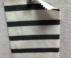 7827 S-OG Organic Cotton Breton Stripe Jersey NATURAL / DARK GREY