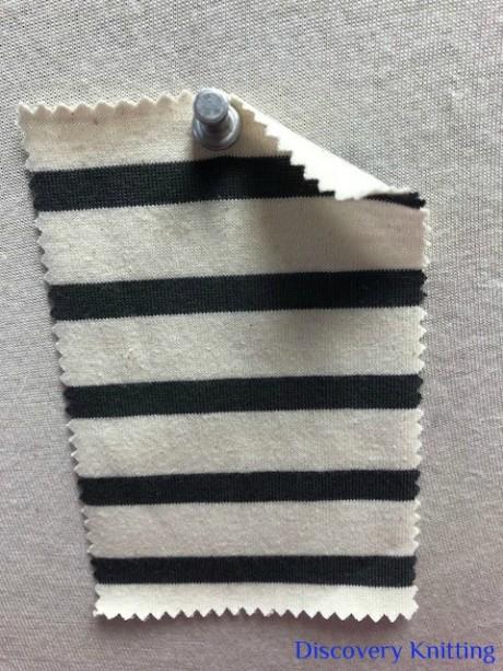 7827 S-OG Organic Cotton Breton Stripe Jersey NATURAL / DARK GREY