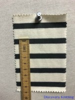 7827 S-OG Organic Cotton Breton Stripe Jersey Nat/Dk Grey CM RULER