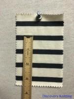 7827 S-OG Organic Cotton Breton Stripe Jersey Nat/Dk Grey INCH RULER