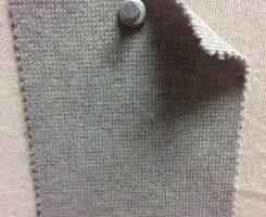 943 G-OGE-10 Organic Cotton Lycra 1x1 Rib GREY MELANGE # 10