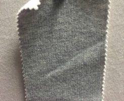 480 FTG-OG 100% Organic Cotton Fleece GREY MELANGE w Natural Back