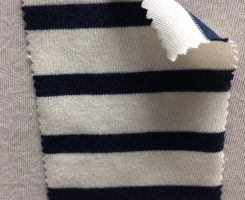 967 S-OG Organic Cotton Body Size Seamless Breton Stripe Jersey CREAM /NAVY