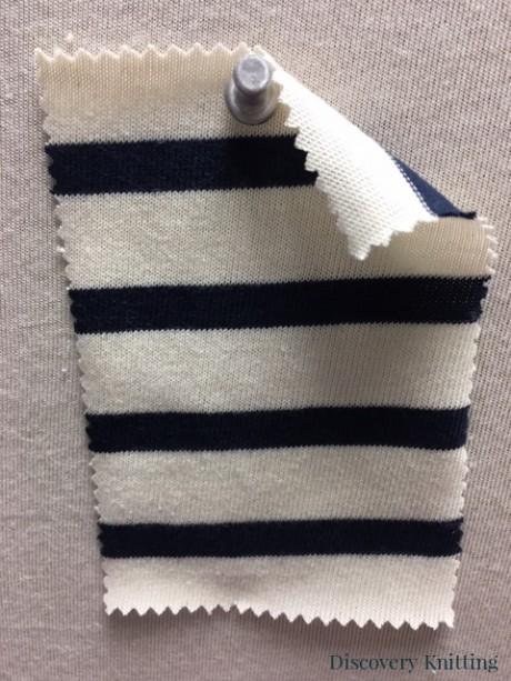 967 S-OG Organic Cotton Body Size Seamless Breton Stripe Jersey CREAM /NAVY
