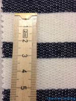 Ecru Denim Stripe Loopback Ruler CM