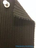 348-OGE Heavy Chunky 2x1 Rib Organic Cotton Lycra BLACK