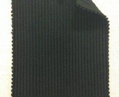 348-OGE-Blk Heavy Chunky 2x1 Rib Organic Cotton Lycra BLACK