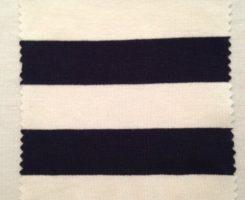 029 S -AVE -NvEc   Stripe Jersey Navy Ecru # 5