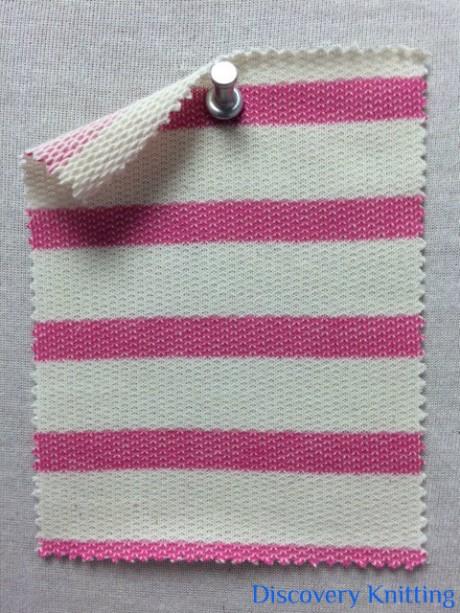396 LB-CP-Pnk  Stripe Loopback Ecru/Pink