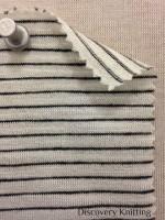 696-VN Pencil Stripe: Ecru/CharCoal