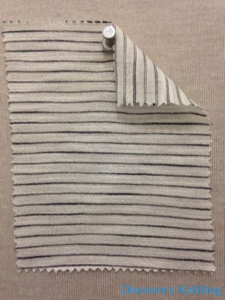 696-VN Pencil Stripe: Ecru/Grey