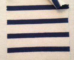 723 S-OGC -EcrNav  Organic Breton Stripe Jersey Ecru/Navy