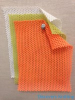 767 -PC Cotton Poly Eyelet Orange, Lime, Raw White
