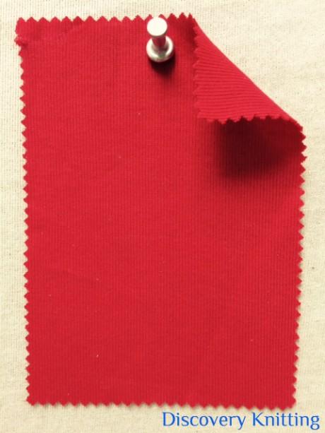 861 T -OG -Red # VER 19  Organic Cotton 1x1 Rib