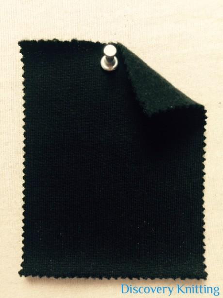777 F T-WCPM-Blk Mercerized Merino Wool Blend FLEECE Black
