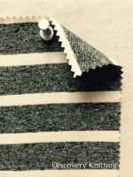 807 S-CBE-BJN Black Jaspe/Natural Lycra Stripe Jersey