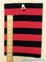 809 S 6-VPE-LipBlk Stripe Jersey 1.5 cm x 1.5 cm