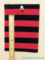 """809 S 6-VPE-LipBlk Stripe Jersey Lipstick/Black 5/8"""" x 5/8"""""""