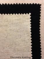 315 -VL Viscose Linen Jersey Ecru, Black