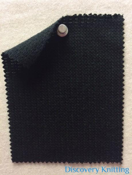 672 LB-CVL-Blk Pique Loopback Cotton Viscose LINEN -BLACK
