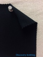 788-OGE-Blk Organic Cotton 12% Lycra Jersey Black