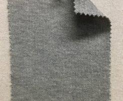 861 GT-OG  1x1 Rib Organic Cotton Grey Melange